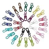 KEESIN Mollette multiuso Clip per bucato in acciaio inox Elenco lungo clip per quilt Supporto appeso 30 confezione Colore casuale