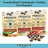 Fresco Trockenfutter getreidefrei | Hundefutter für ältere Hunde | viel Fleisch | Barf artgerecht & unkompliziert | Trockenbarf Senioren-Menüs Vorteilspaket