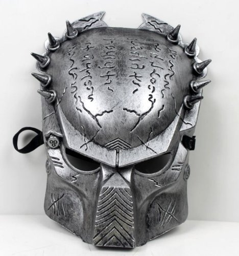 Predator Aliens vs Predator mask disguise face mask [silver] 12mm width belt with silver (japan import) by Ppmarket