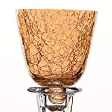 Pommerntraum   Glasaufsaufsatz für Kerzenständer   Teelicht-Aufsatz   Windlicht-Aufsatz   CRAQUELÉ Gold