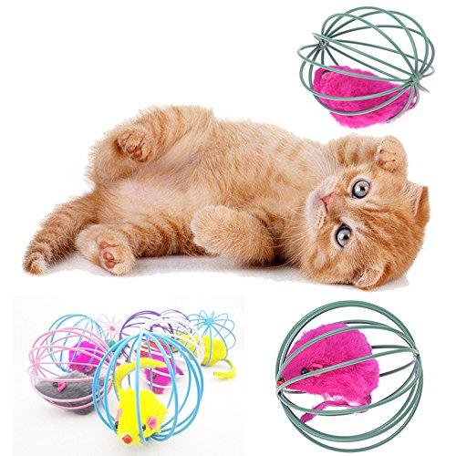 Soft Feather Cat Toy Ball Treats Interactive Kitten Toys Fogun Pet Catnip Toys