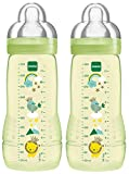 MAM 99950502 - Easy Active Baby Bottle 330 ml, Babyflasche, Doppelpack Neutral