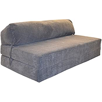 JAZZ SOFABED - DA VINCI CORD Deluxe Double Sofa z Bed Chair (Charcoal)