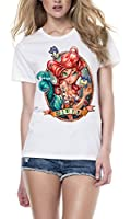 Ariel Siren Tattoo White T Shirt