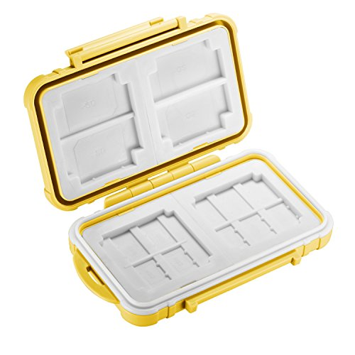 Preisvergleich Produktbild Neewer 14 Slots Memory Card Case Halter langlebig und wasserdicht Anti-Shock Displayschutzfolie Karte Box für Micro TF SD Karten, Grau