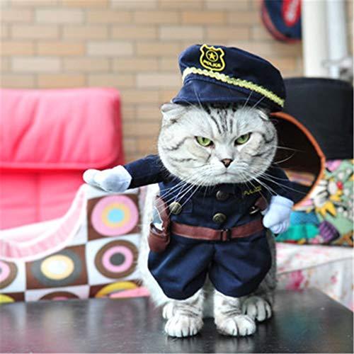 Dog Clothes Nurse Suit Kostüm für Cat Cool Weihnachten Halloween Kostüm Haustier-Mantel für Katze Hund ()