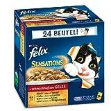 Felix Katzennassfutter Sensations Fleisch Mix 100 g, 24er Pack (24 x 100 g)