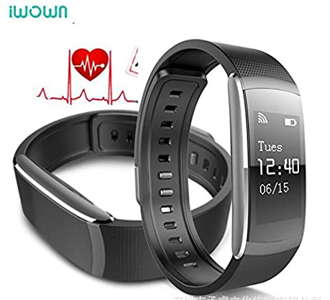 iWOWNFit I6 Pro Fitness Tracker Heart Rate Monitor Bluetooth Smart Band Bracelet IP67 Waterproof Sports Watch for iPhone Android Smartphone (Black)