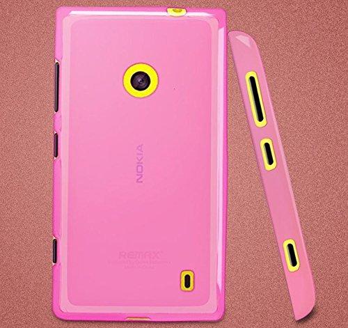 Microsoft/Nokia Lumia 520 Silicon Soft Back Case Cover - Pink