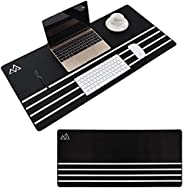 SWIPPLY | Large Gaming Mouse Pad Long Anti Slip Desk PC Pad (800 x 400 x 4 mm) | Rubber Stitched Edges Soft xx