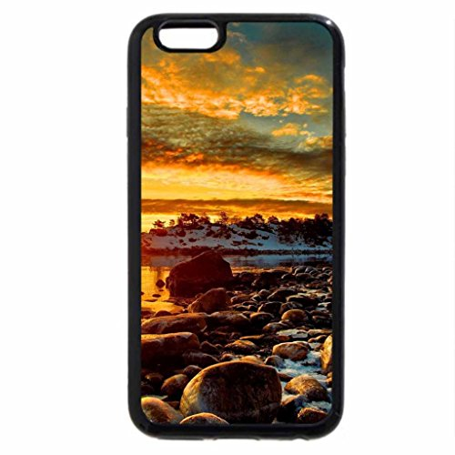 iPhone 6S / iPhone 6 Case (Black) Snowy rocky shore
