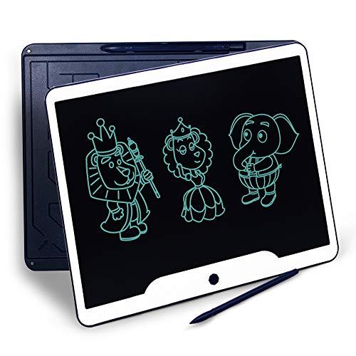 RichgvTablette d'écriture LCD, 15 Pouces d'écriture Doodle, Planche à Dessin, pavé numérique pour Enfants et Adultes à la Maison, à l'école, au Bureau (Bleu)