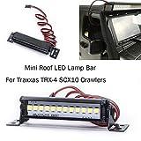 Fcostume 1/10 Raupenzubehör Minidach LED-Lampenleiste für Traxxas TRX-4 SCX10 Crawler (As Shown)