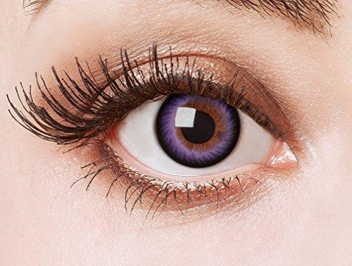 aricona Farblinsen lila Cosplay Kontaktlinsen – Circle Lenses, bunte farbige Jahreslinsen, Linsen für Anime & Manga Looks