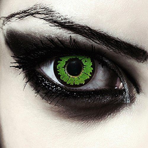 d Kontaktlinsen für Halloween Kostüm Farblinsen in grün Model: Green Goblin + gratis Kontaktlinsenbehälter (innerhalb Dt.) (Halloween Kobold Kostüme)