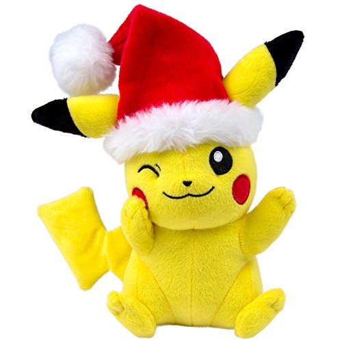 Pokemon Pikachu Santa Hat 8 inch Christmas Plush Toy