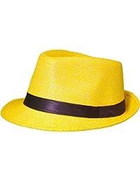 Sombrero de paja Panamá Fedora sombrero Gangster sombrero sombrero con cinta de tela