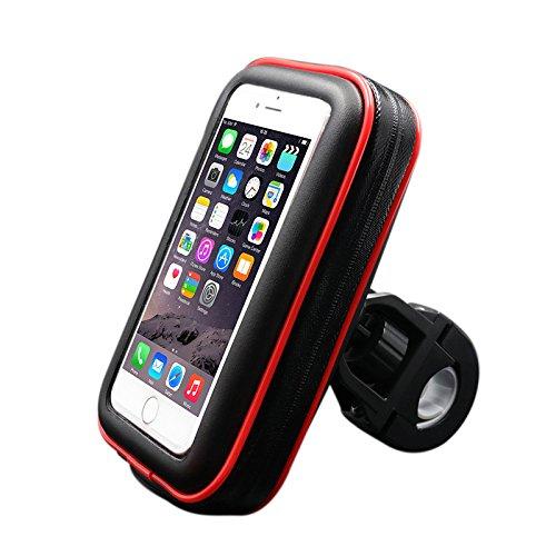 Fahrrad Handyhalterung mit wasserdichter Schutzhülle Tasche Universal für Smartphones, Handy, Navi, GPS, etc. in Größe M