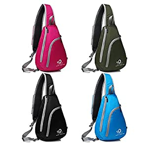 WATERFLY Chest Sling Shoulder Backpacks Bags Fashion Cute Crossbody Rope Triangle Pack Rucksack for Hiking or Multipurpose Daypacks and School Handbag for Man Women Lady Girl Teens