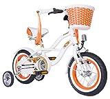 BIKESTAR® Premium Design Kinderfahrrad für coole Kids ab 3 Jahren ? 12er Deluxe Cruiser Edition ? Diamant Weiß