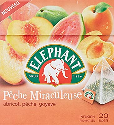 Elephant Infusion Pêche Miraculeuse 20 Sachets 38g
