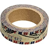 Rayher Hobby 57331000Washi Tape Aire Post, 15mm, rollo de 15m