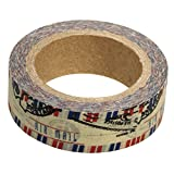Rayher Hobby 57331000 Washi Tape Luftpost, 15 mm, Rolle 15 m