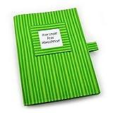 U-Heft Hülle inkl. 2 Steckfächern - Wunschtext - grün