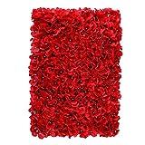 Baoblaze Künstliche Blumen Säule Wand, Diy Blumenwand Hochzeit Kunstblumen Deko - rot Hortensie, 60 x 40 x 9 cm