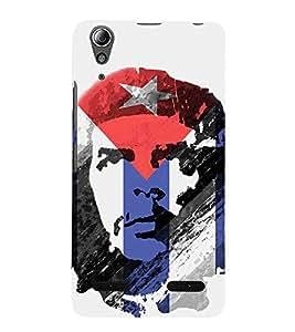 HiFi Designer Phone Back Case Cover Lenovo A6000 Plus :: Lenovo A6000+ :: Lenovo A6000 ( Che Guevara Star Blue and Red Logo )