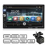MiCarBa Universal 7 pollici HD 1024 * 600 doppio lettore video auto Din, Touch Screen Car Radio con telecomando supporto FM Android 4.0-8.0 Mirror Link(CL7035B) …