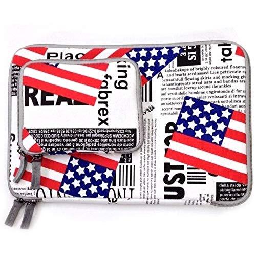 Notebooktaschen & Koffer us - Flagge Muster 13,3 Zoll Mode reißverschluss bettwäsche wasserdicht ärmel Fall Tasche für Laptop - Notebook, mit Einer kleinen Tasche für die Maus, Laptop-Taschen