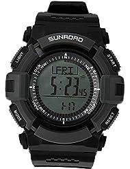 Sunroad FR821A deportes al aire libre 3ATM impermeable watch-altimeter brújula cronómetro pesca barómetro podómetro reloj multifunción