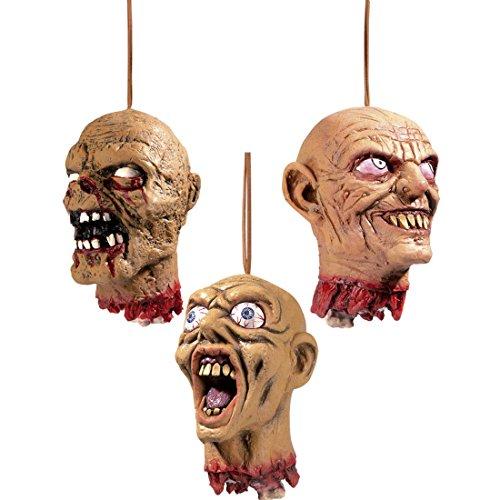 f Abgeschlagener Schädel Halloweendeko lachend Abgehackter Zombiekopf Deko Zombie Kopf Halloween Dekoration Horror Männer Monsterkopf Partydeko Grusel Monster Männerkopf (Abgetrennter Kopf Halloween)