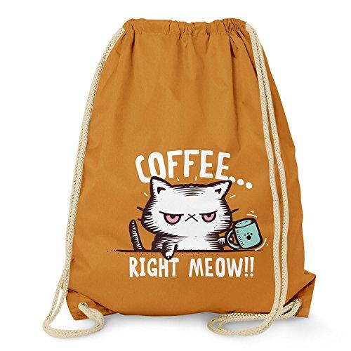 NERDO - Coffee right Meow - Turnbeutel, orange - Orangen-espresso-tasse