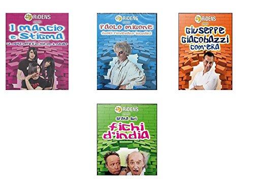 Offerta 4 dvd comici - i migliori comici italiani (fichi d'india - giuseppe giacobazzi - paolo migone - i mancio e stigma)
