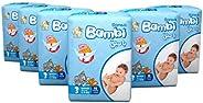Sanita Bambi Baby Diapers - Medium Size 3, Bundle of 6 Packs, 90 Diapers
