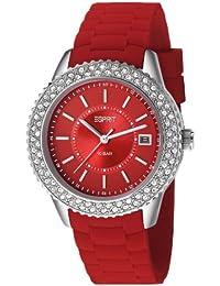 Esprit - ES106212007 - Montre Femme - Quartz Analogique - Cadran Rouge - Bracelet Silicone Rouge