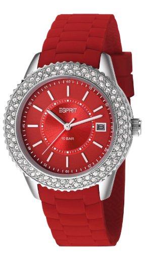Esprit ES106212007 - Orologio da polso donna, silicone, colore: rosso