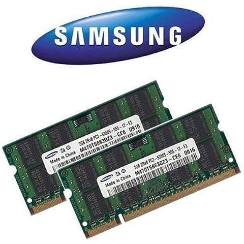 2x 2GB 4GB Samsung RAM DDR2SO-DIMM 667mhz PC5300per iMac + MacBook + MacBook Pro + Mac Mini