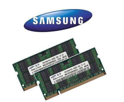 2x 2 GB 4GB SAMSUNG RAM DDR2 SO-DIMM 667MHz PC5300 für iMac + MacBook + MacBook Pro + mac mini (Apple-ddr2-ram)