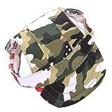 Beito Cane Protezione di Sun Accessori per Animali Camouflage Dog Hat Traspirante Baseball Cappelli Esterni Tappi con Foro di Orecchio per Le Piccole Medie Cani di Grandi Dimensioni S