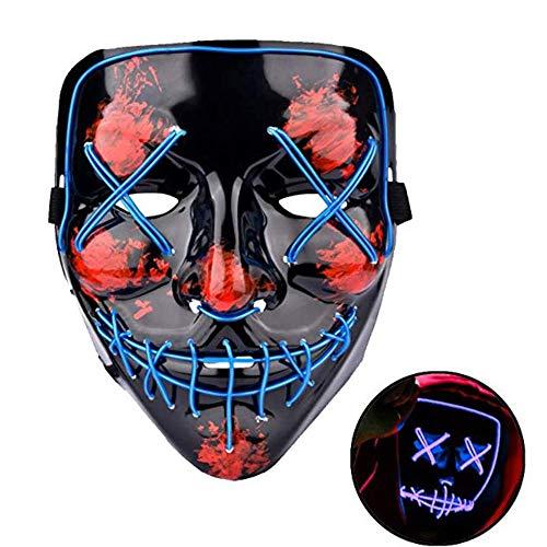 NAN® Halloween Maske Karneval Festival Party Scary Halloween Kostüme Dress Up LED Leuchtende Maske Halloween Maske Led Flash Dance - Scary Kostüm Mit Gasmasken