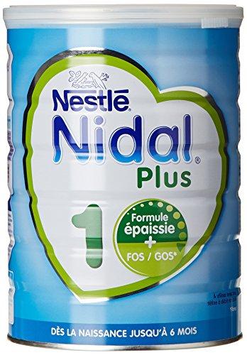 Nestlé Nidal Plus 1 Lait infantile 1er âge en poudre de la naissance à 6 mois 800g - Lot de 3