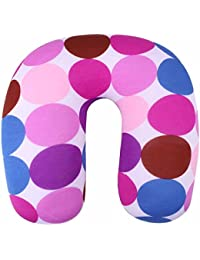 Premium Quality Ultra Soft Micro-Beads Travel Pillow Travel Neck Pillow Pink-Purple By Buckle Up