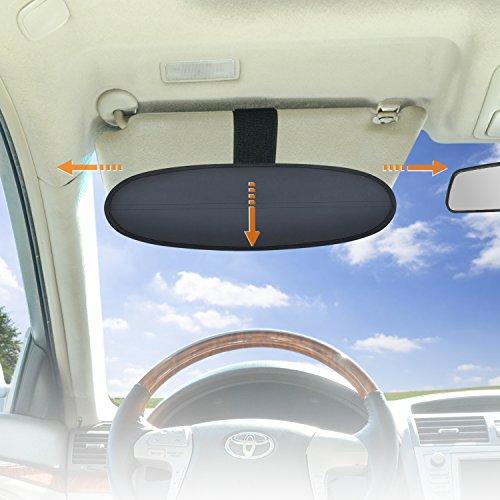 WANPOOL Anti-Blendschutz für Auto Visier Sonnenblenden Verlängerung für den Fahrer und Passierie auf dem Vordersitz, 1 Stück (Silber)