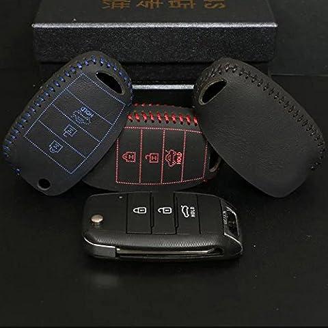 Eaglerich 109E della cassa del supporto chiave di cuoio Car Cover Tre chiavi Fit for KIA; K3K5 SORENTO SHUMA.