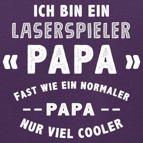Ich bin ein Laserspieler Papa - Herren T-Shirt - 13 Farben Lila