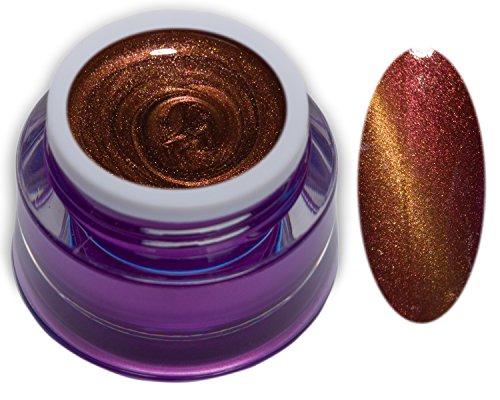 5ml Glossy Cat Eye UV-Gel Rot-Gold Magnet Gel ohne Schwitzschicht Premium Colorgel RM Beautynails