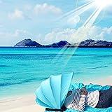 Mini Face Zelt mit Cool Kissen, Outdoor Pop Up tragbar Face Sun Shade Sonnenschutz Sonnendach mit Strandmatte, und Handy Hängen Tasche, blau